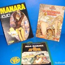 Cómics: COMIC 3 TOMOS MILO MANARA UNDERGROUND DESCATALOGADOS MILO MANARA . Lote 167147856