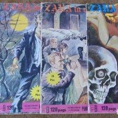 Cómics: DELIRIUM Nº 42 + ZARA LA VAMPIRA Nº 12, 13 Y 14 (ELVIBERIA 1976) 4 NOVELAS.. Lote 153497050