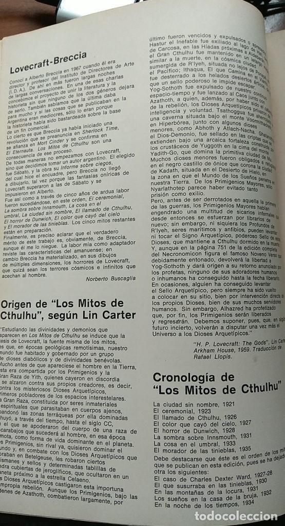 Cómics: LOVECRAFT BRECCIA - Los Mitos de Cthulhu - Ediciones Periferia 1.975 - Foto 6 - 168779624