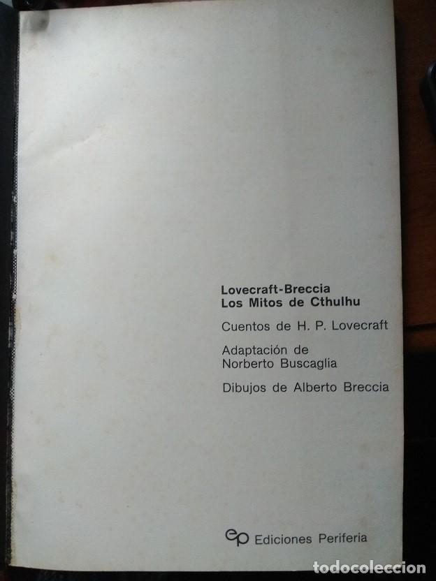 Cómics: LOVECRAFT BRECCIA - Los Mitos de Cthulhu - Ediciones Periferia 1.975 - Foto 7 - 168779624