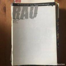 Cómics: RAU AÑO 3 Nº 8 Y MEDIO - JUNIO 1997 - PRODUCCIONES PELIGROSAS. Lote 169555012