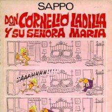 Cómics: DON CORNELIO LADILLA Y SU ESPOSA MARIA (CERES, 1979) DE SAPPO (VÁZQUEZ). Lote 169703772