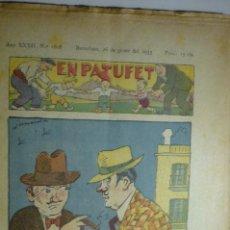 Cómics: PUBLICACION EN CATALAN EN PATUFET - 26-1-1935 NUM.1608. Lote 170001776