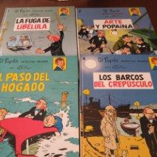 Cómics: GIL PUPILA, DETECTIVE PRIVADO. NÚMEROS 1, 2, 3 Y 4 + PÓSTER DEL Nº1. M. TILLIEUX. Lote 170003098