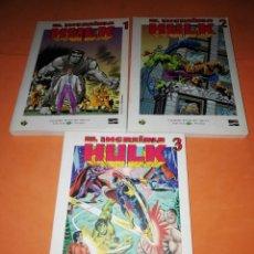 Cómics: EL INCREIBLE HULK . GRANDES HEROES DEL COMIC. BIBLIOTECA EL MUNDO. Nº 1 ,2 Y 3.. Lote 170063768