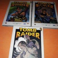 Comics : TOMB RAIDER . GRANDES HEROES DEL COMIC. BIBLIOTECA EL MUNDO. Nº 1 ,2 Y 3.. Lote 170066860