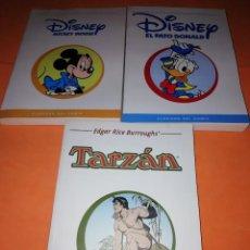 Cómics: CLASICOS DEL COMIC. 3 NUMEROS . TARZAN, DONALD Y MICKEY MOUSE. EL MUNDO.. Lote 170073100
