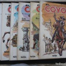 Cómics: COLECCIÓN EL COYOTE. FORUM. COMPLETA EN 8 TOMOS. Lote 170134892