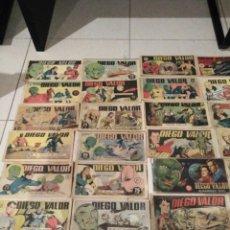 Cómics: LOTE 40 COMICS COMPLETOS DE DIEGO VALOR. Lote 170316056