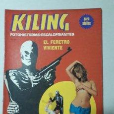 Cómics: KILING N° 117 - EL FÉRETRO VIVIENTE - FOTONOVELA ADULTOS - ORIGINAL EDICIONES RECORD - ARGENTINA. Lote 170503308