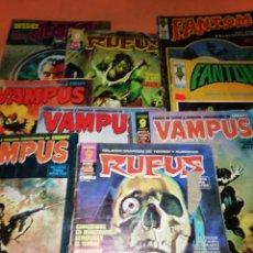 Cómics: VAMPUS, RUFUS, DOSSIER NEGRO, FANTOM. LOTE 9 COMICS PRINCIPIOS DE LOS 70.. Lote 171324193