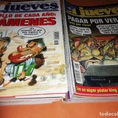 Cómics: EL JUEVES. REVISTA.LOTE . NUMEROS DEL 1097 AL 1162. BUEN ESTADO GENERAL.. Lote 171579564