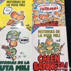 Cómics: HISTORIAS DE LA PUTA MILI / PENDONES DEL HUMOR Nº 33-45-69-82 / EL JUEVES / BUENA CONSERVACION. Lote 171756875