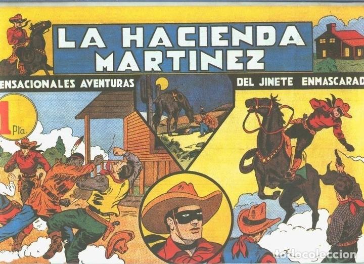 EL LLANERO SOLITARIO (LONE RANGER) FACSIMIL: LA HACIENDA MARTINEZ (Tebeos y Comics Pendientes de Clasificar)