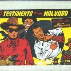 Cómics: EL LLANERO SOLITARIO (LONE RANGER) FACSIMIL: EL TESTAMENTO DE UN MALVADO. Lote 171805628