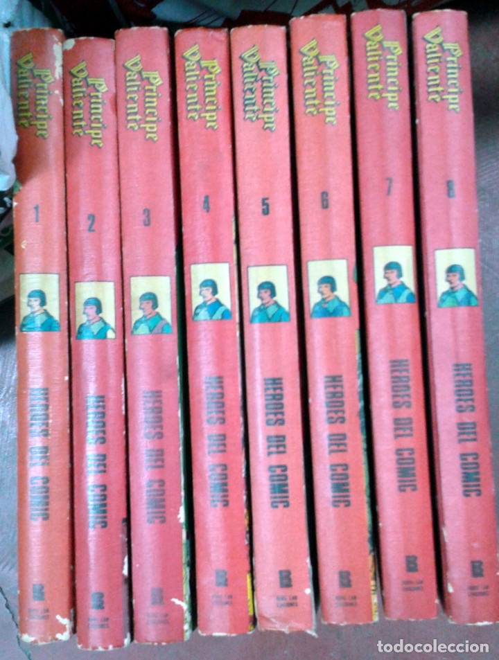 EL PRÍNCIPE VALIENTE, DE HAROLD FOSTER. COLECCIÓN COMPLETA 8 TOMOS. BURU-LAN (Tebeos y Comics - Buru-Lan - Principe Valiente)
