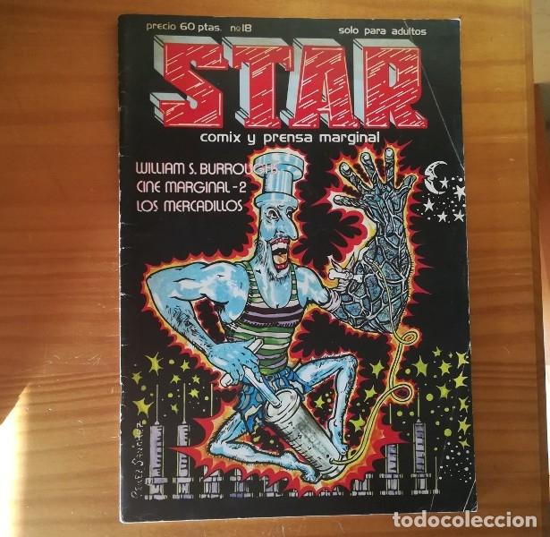 STAR 18 PRODUCCIONES EDITORIALES 1976 REVISTA UNDERGROUND COMIX MAX, WILLIAM S. BURROUGHS... (Tebeos y Comics - Comics otras Editoriales Actuales)