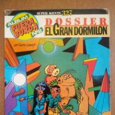 Cómics: ÁLBUM FUERA BORDA N°2: SÚPER AGENTE 327 - DOSSIER EL GRAN DORMILÓN. POR MARTIN LODEWIJT (SARPE).. Lote 173369125