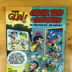 Cómics: TOPE GUAI! CHICHA, TATO Y CLODOVEO. DE PROFESIÓN, SIN EMPLEO. NÚM 3. Lote 173465330