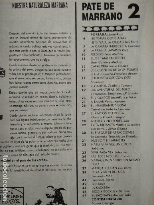 Cómics: PATE DE MARRANO Nº 2 - COMIX UNDERGROUND - - Foto 2 - 174084355