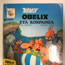 Cómics: ASTERIX. OBELIX ETA KONPAINIA. TAPA DURA. 48 PÁGINAS. Lote 174963398