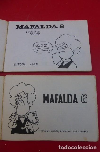 Cómics: Mafalda...numero 6 y numero 8..usados....Tiras de Quino, editadas por Lumen. - Foto 4 - 175060687