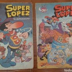 Cómics: 2 COMIC SUPER LÓPEZ N° 2 Y 3 (1980 Y 1982) COLECCIÓN OLÉ. Lote 175517559