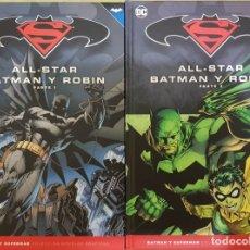 Cómics: ALL STAR BATMAN Y ROBIN 1 Y 2 (COMPLETA). COLECCIÓN NOVELAS GRAFICAS BATMAN/SUPERMAN. SALVAT. Lote 175971519