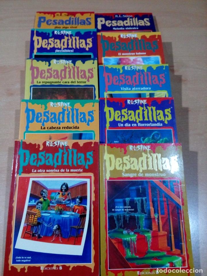 LOTE 10 LIBROS PESADILLAS RL STILE -VER NUMEROS- BUEN ESTADO - VER FOTOS (Tebeos y Comics Pendientes de Clasificar)