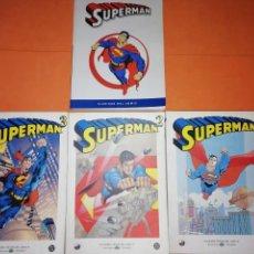 Cómics: SUPERMAN . GRANDES HEROES DEL COMIC. BIBLIOTECA EL MUNDO. VOLUMENES 1,2 Y 3 MAS CLASICOS. Lote 176794658