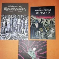 Cómics: SORDO. PRISIONERO EN MAUTHAUSEN. TORTAS FRITAS DE POLENTA. TRES TOMOS .EDICIONS DE PONENT.. Lote 176834902