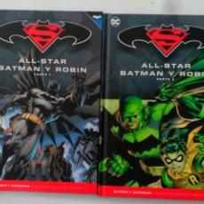 Cómics: ECC SALVAT ALL STAR BATMAN Y ROBIN PARTE 1 Y PARTE 2. COLECCION NOVELAS GRAFICAS BATMAN Y SUPERMAN. Lote 177474130