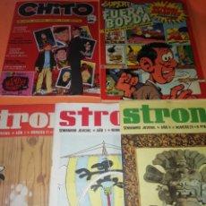 Cómics: STRONG Nº 5 , 11 Y 25 . CHITO Nº 1 Y FUERA BORDA SUPER Nº 2.. Lote 177584643