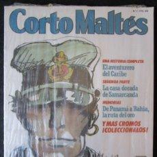 Cómics: CORTO MALTES- Nº 7 - EL AVENTURERO DEL CARIBE - CONTIENE CROMOS Y SUPLEMENTOS - ''PRECINTADO''. Lote 177712594