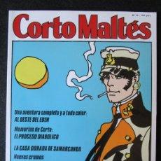 Cómics: CORTO MALTÉS Nº 12 - CONTIENE 8 CROMOS Y SÉPTIMA PARTE DE LA CASA DORADA DE SAMARCANDA. Lote 177713115