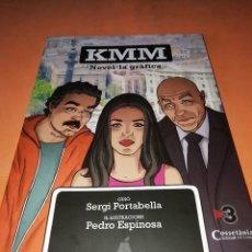 Cómics: KMM. NOVEL-LA GRÁFICA. CATALÁ. COSSETANIA EDICIONS. DIBUJO Y FIRMA DEDICADA POR PEDRO ESPINOSA.. Lote 178125132