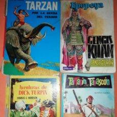 Cómics: LOTE JUVENIL. AÑOS 60 .TARZAN, DICK TURPIN, TARTARIN DE TARASCON Y GENGIS KHAN.VER FOTOS DE ESTADO.. Lote 178174715