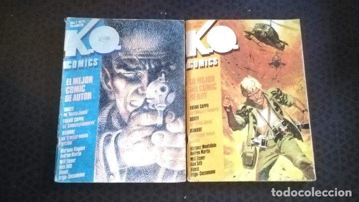 K.O. COMICS Nº 3. WILL EISNER, BOGEY Y Nº 2 AÑOS 80 FRANK CAPPA - BOGEY, ALEX TOTH, JOSE ORTIZ (Tebeos y Comics - Comics otras Editoriales Actuales)