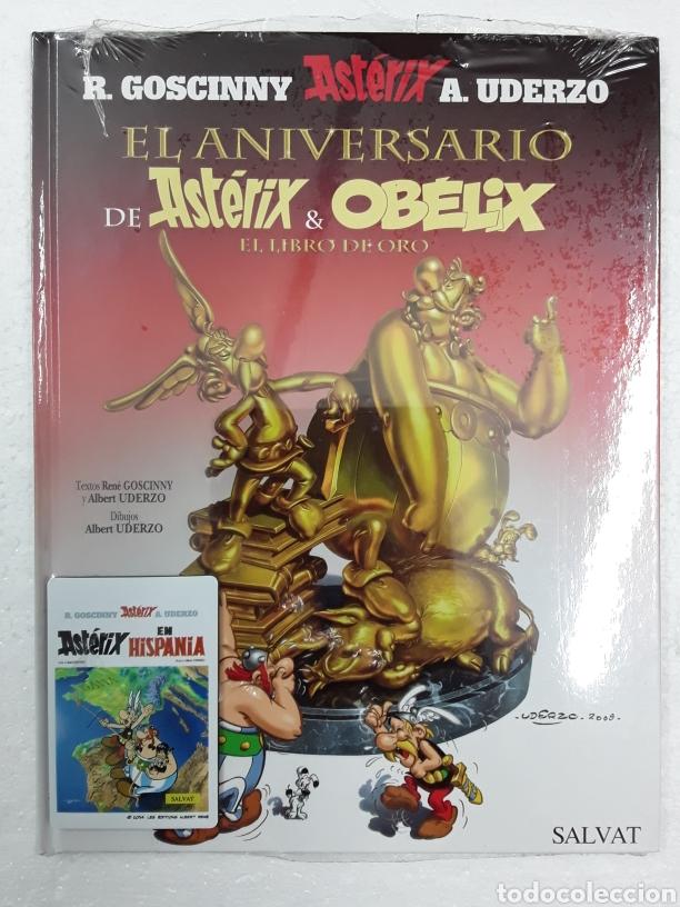 ASTERIX 34 - EL ANIVERSARIO DE ASTÉRIX & OB?LIX. EL LIBRO DE ORO - SALVAT (Tebeos y Comics - Comics otras Editoriales Actuales)
