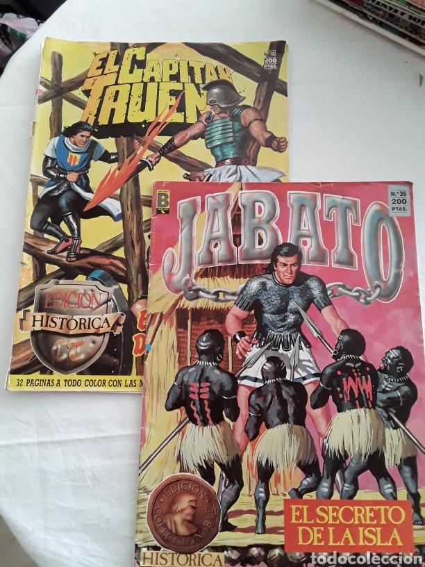 2 COMICS CAPITAN TRUENO Y JABATO EDICIONES HISTORICAS (Tebeos y Comics Pendientes de Clasificar)