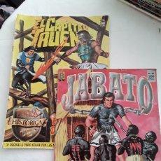 Cómics: 2 COMICS CAPITAN TRUENO Y JABATO EDICIONES HISTORICAS. Lote 178647388