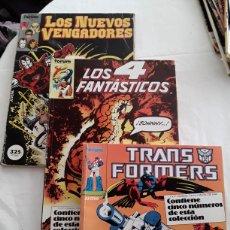 Cómics: LOTE DE 2 COMICS FORUM, LOS 4 FANTASTICOS Y TRANSFORMERS. Lote 178648472
