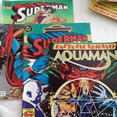 Cómics: 3 COMICS EDICIONES ZINCO SUPERMAN Y AQUAMAN. Lote 178649126