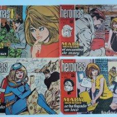 Cómics: LOTE 10 REVISTAS. REVISTA JUVENIL FEMENINA HEROINAS. AÑOS 60. W. Lote 178686621
