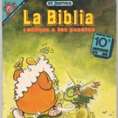 Cómics: EL JUEVES. PENDONES DEL HUMOR. Nº 49. LA BIBLIA CONTADA A LOS PASOTAS. JOSE LUIS MARTÍN. (P/B1). Lote 178892121