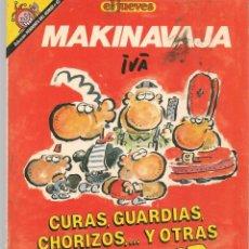 Cómics: EL JUEVES. PENDONES DEL HUMOR. Nº 62. MAKINAVAJA. CURAS, GUARDIAS, CHORIZOS Y OTRAS GENTES.. (P/B1). Lote 178893671