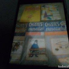 Cómics: LOS 1000 MEJORES CHISTES, CHISTES DE PERROS Y PERRERÍAS Y 3 DE CHISTES Y PASATIEMPOS SIN HACER 1964. Lote 178918058