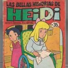 Cómics: LAS BELLAS HISTORIAS DE HEIDI. Nº 35. LA CARTA DEL SEÑOR SESSEMAN. BRUGUERA, 1976. (C/A52). Lote 178954922