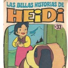 Cómics: LAS BELLAS HISTORIAS DE HEIDI. Nº 33. EL DESCUIDO DE HEIDI. BRUGUERA, 1976. (C/A52). Lote 178956036