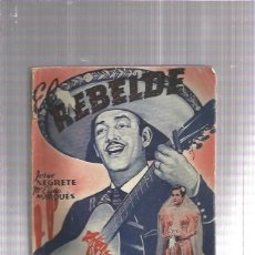 Cómics: EL REBELDE JORGE NEGRETE . Lote 179068032